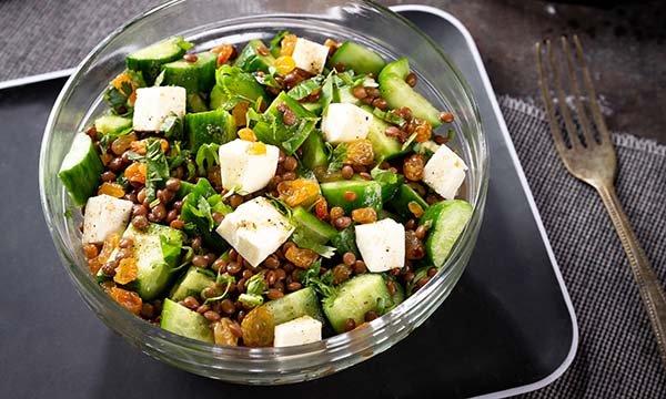 Halloumi Lentil Salad